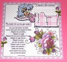 Handmade Greeting Card 3D Humorous Birthday With Stella Prayer For Getting Older