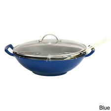 Le Cuistot 13.8-inch Enamel Cast Iron 5-piece Wok Set