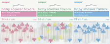 Baby shower Mini biberones pack de 24 unisex decoración para mesas