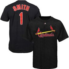 Ozzie Smith St Louis Cardinals Cooperstown Player Jersey Dark Grey T Shirt Men's