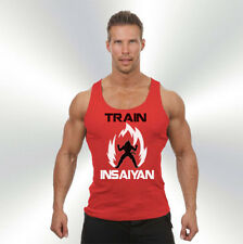 Train Insaiyan RED Bro Tank Top DBZ Super Saiyan Gym Dragon Ball Z exercise
