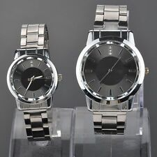Luxury Steel Band Rhinestones Quartz Couple Wrist Watches Timepieces for Lovers