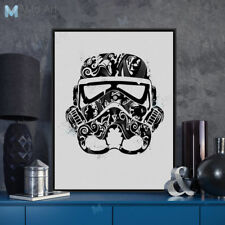Mild Art Star Wars Trooper Mask Abstract Pop Movie Film Posters Canvas Paintings