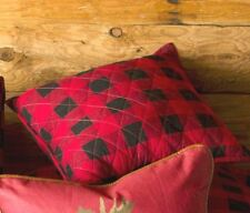 RED BUFFALO CHECK PILLOW SHAMS Standard or King Size- LODGE CABIN PLAID