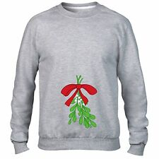 RUDE MISTLETOE SWEATER JUMPER UGLY XMAS CHRISTMAS KISS ME MEN WOMEN