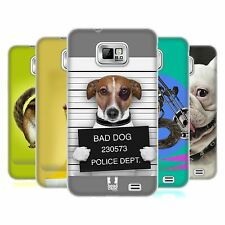 HEAD CASE FUNNY ANIMALS GEL BACK CASE COVER FOR SAMSUNG GALAXY S2 II I9100