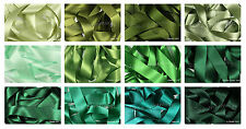 Satin Ribbon Double Sided Berisfords Green Shades Choice Widths 3501