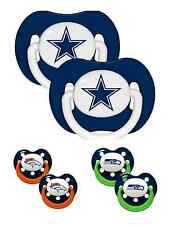 NFL Football Team Logo 2 Pack Pacifiers - Different Styles - Pick Your Team!!