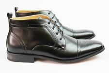 New Men's Black Ferro Aldo Ankle Boots Snipe Toe Leather Lace Up New Style