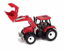 LARGE NEW MODEL TOY FARM TRACTOR WITH FRONT GRAB LOADER PUSH ALONG BOYS GIFT