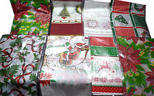 Christmas Xmas Design VINYL TABLE CLOTH Wipe Clean PVC Table Cover Tablecloth