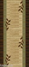 Custom Size Stair Hallway Runner Rug Rubber Back Non Skid Brown Floral #5130