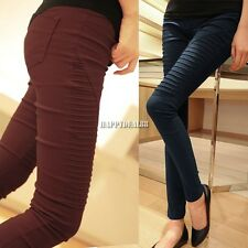 Women High qf Waist Pants Stretch Sexy Pencil Slim Fit Skinny Jeans Trousers HD2