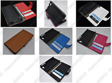 Multi Color Leather Cover Flip Case HOLDER WALLET For Sony Xperia J ST26i