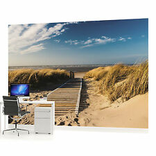 Vivid Sandy Beach Walkway  PHOTO WALLPAPER WALL MURAL ROOM DECOR (1021VE)