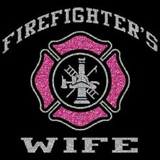 Firefighter's Wife Fire Rescue Pullover Hoodie Black Sweatshirt S-3XL Sparkle