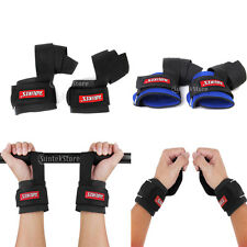 Pro Padded Weight Lifting Training Gym Straps Hand Bar Wrist Support Gloves Wrap
