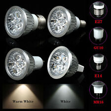 Dimmable 5W/4W/3W LED Spotlight Bulb Lamp E27/E14/GU10/MR16 Cool/Warm White