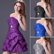 XMAS HOT Sexy Strapless Short Bridesmaid Evening Party Cocktail Prom Dress Skirt