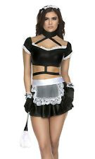 Room Service Sexy French Maid Costume by Forplay Top Skirt Headband Gloves
