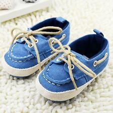Unisex Toddler Prewalker Crib Shoes Lace Up Soft Sole Baby Shoes Sneaker 0-18M