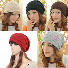 Neu Damen Unisex Winter Warm Hut Strick Mütze Beanie Slouch Knit Cap Kappe