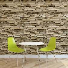 WALL MURAL PHOTO WALLPAPER PICTURE (1538VEVE) Stone Brick Wall Wood
