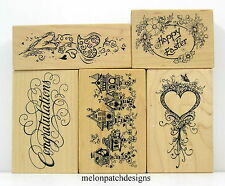 13 PSX HEART BIRDHOUSE SAYING EASTER EGG VALENTINE Rubber Stamps YOU PICK