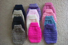 """hand knitted puppy coat - jumper  tiny xxs small 6""""- chihuahua teacup yorkie etc"""