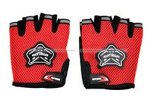 New Cycling Bike Bicycle Half Finger Gloves Size M Blue Red Black