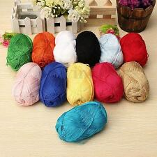 50g Chunky Soft Smooth Natural Bamboo Cotton Knitting Yarn Fingering Sweater