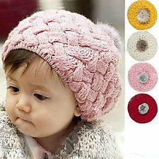 Fashion Baby Girl Toddler Kid Winter Warm Knitted Crochet Beanie Hat Cap
