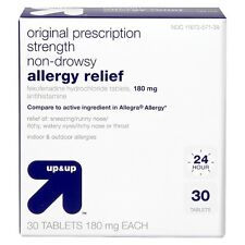 up&up Non-Drowsy Allergy Relief 180 mg Fexofenadine Hydrochloride Anthistamin...