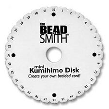 "1 x 4"" round kumihimo disk for braiding with/without instructions"