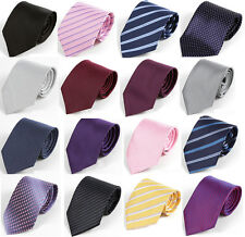 Brand New Mens Classic Striped/Solid Wedding Silk Blend Ties Business Formal Tie