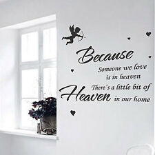 Because Someone We Amor Es en Cielo Papel Pared Frases / Pegatinas Pared