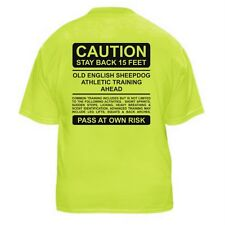 OLD ENGLISH SHEEPDOG FUNNY DOG LOVER T-SHIRT - CAUTION - Sizes Small through 5XL