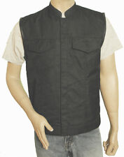 MENS LIGHTWEIGHT TEXTILE CLUB VEST- SONS OF ANARCHY STYLE - FREE SHIPPING !!