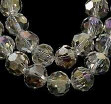 Clear AB Faceted Round Crystal Glass Beads ~ 4mm, 6mm, 8mm, Choose size/quantity