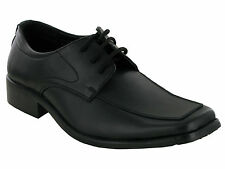 MENS SMART LEATHER UPPER LACE UP WIDE FIT CASUAL FORMAL OFFICE WORK DRESS SHOES