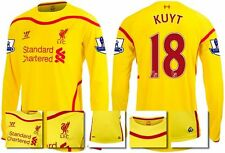 *14 / 15 - WARRIOR ; LIVERPOOL AWAY SHIRT LS + PATCHES / KUYT 18 = SIZE*