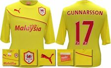 *13 / 14 - PUMA ; CARDIFF CITY AWAY SHIRT SS + PATCHES / GUNNARSSON 17 = SIZE*