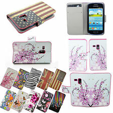 Fashion PU Leather Wallet Flip Stand Case Cover For Samsung Galaxy S3 Mini I8190