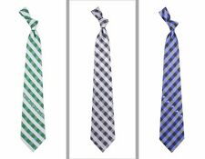 Choose Your NBA Team Woven Polyester Checkered Pattern Neck Tie by Eagles Wings
