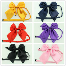BRAND NEW Pre-tied satin girl women Bowtie sailor school Necktie