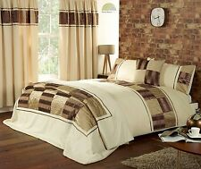 Chocolate Brown Quilt Duvet Cover 4 sizes OR Throw OR Cushion OR Curtains