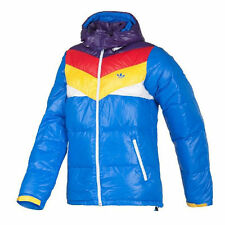 Adidas Originals Winter Jacket Coat Hood Padded Cold Top Down Parka Puffer Blue