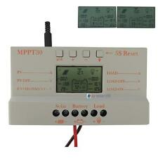 LCD 10A 20A 30A MPPT Solar Panel Battery Regulator Charge Controller 12V/24V UPC