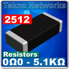SMD / SMT 2512  Power Resistors - 40pcs  [ Range: 0 - 1M Ohm ]