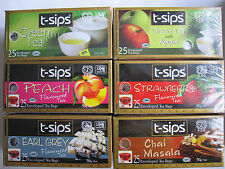 9 - 24 Tea Bags Selection of 6 Flavours Pure Ceylon Tea  by T-Sips Sri-Lanka